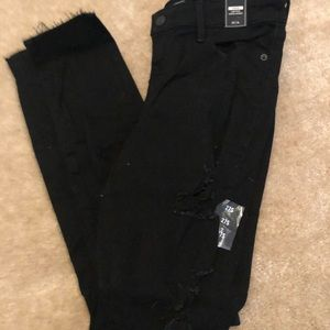 Abercrombie and Fitch Black Distressed Jeans